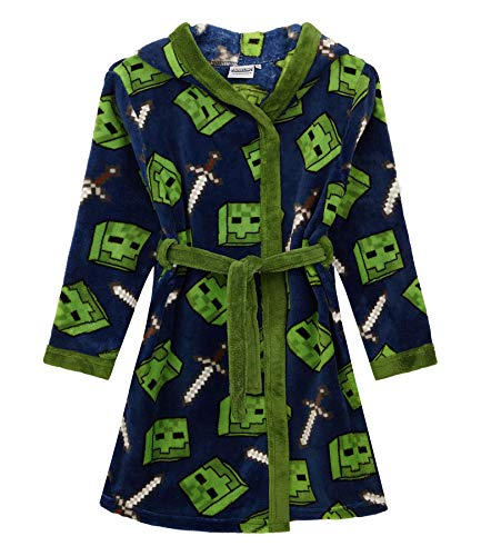 Minecraft Creeper Jungen Bademantel Kinder Morgenmantel Nacht Robe