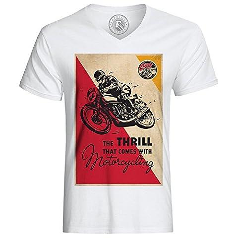 T-shirt Motorcycling Moto Fast Bike Clasics Vintage Cafe