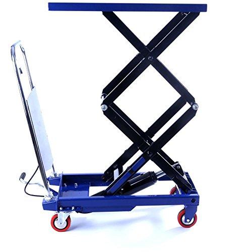 Hydraulischer, fahrbarer Hubtisch - Hubtischwagen - Plattformwagen - 150 kg