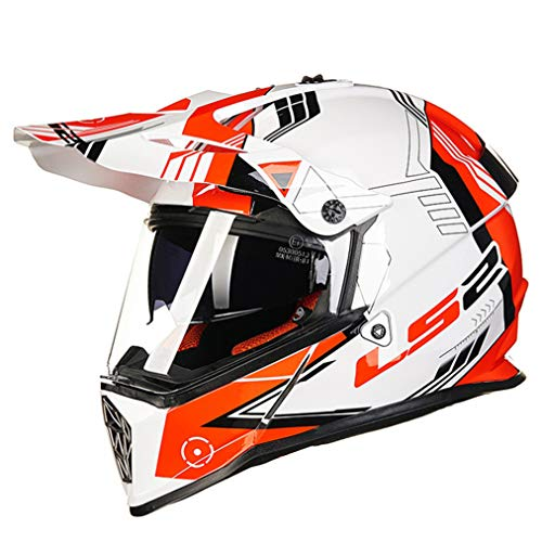 Casco moto da adulto Outdoor Off Road Double Lens Antivento da uomo Full Face Caschi da moto Safety Anti Crash Downhill Motocross Racing Protezioni di sicurezza