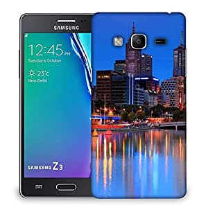 Snoogg Colorful City At Night Designer Protective Phone Back Case Cover For Samsung Galaxy Tizen T3