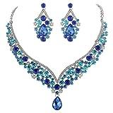 EVER FAITH® Cristal Autrichien Forme V Fantaisie Parures Bijoux