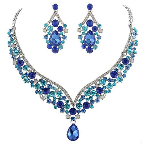 EVER FAITH® Austrian Crystal Art Deco V-Shape Party Jewellery Set Test