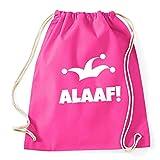 """Partybob Fasching-Rucksack """"Alaaf"""" - Tasche für Karneval (C - Pink)"""