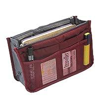 Marosoniy Handbag Organizer, Liner, Sturdy Nylon, Insert 13 Compartments (Red)