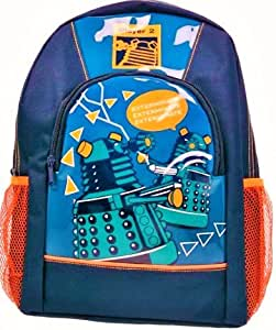 Dr Who - Large Backpack with Front Pocket and 2 Side Mesh Pockets School Bag