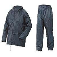 Mountain Pass Mens Waterproof Set Mens Waterproof Rain Coat Kagool Jacket Coat & Trouser Trousers Bottoms Set Suit Work…