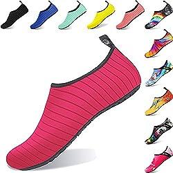BIGU Zapatos de Agua Yoga para mujer hombre niños descalzo Piel Calcetines de Buceo Natación Secado rápido Agua para la Playa de natación Surf