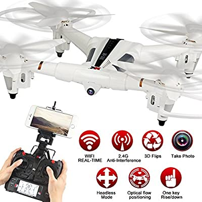 LiDi RC X300-W 2.4G 6-Axis Gyro 720P Orientable Camera Wifi FPV Optical Flow Positioning RC Quadcopter Drone