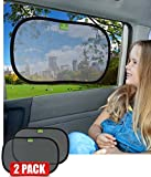 Universal Car Sun Shades | Includes 2 X High Density UV Protection Car Sun Shade | Installed In Seconds | Protection For All The Family | 100% Money Back Guarantee