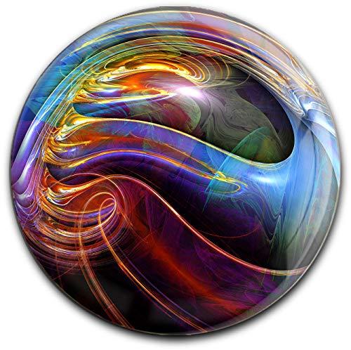 metALUm runder Acrylmagnet mit starkem Neodym - Magnet Fraktal - Muster #1301060