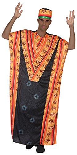 Atosa 38897Africain Déguisement, déguisement, Taille M/L