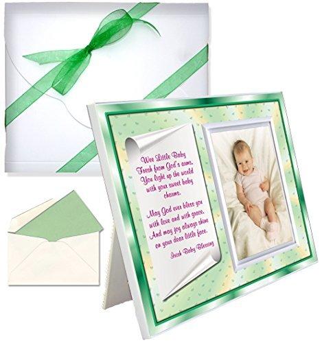 Expressly Yours! Photo Expressions Irish Baby-Segen-Geschenk-Bilderrahmen   Für Baby oder Junge   Affordable, Bunte   Hält Ein 3,5 X 5 Foto   Innovatives Front-Load-Design   Irish Theme
