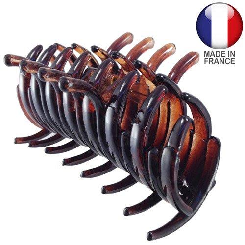 294 – 003 – Pince pour cheveux français tubulaire cm 9 color Tortue – Pinces pour Cheveux