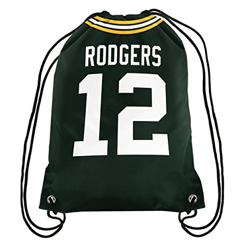 Forever Collectibles Rodgers A. # 12 Player Jersey doppelseitig Kordelzug Rucksack, Green Bay Packers, One size Rodgers Jersey