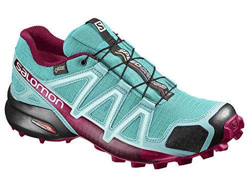 Salomon Speedcross 4 Gtx W, Scarpe da Trail Running Donna Turchese (Ceramic/aruba Blue/sangria)