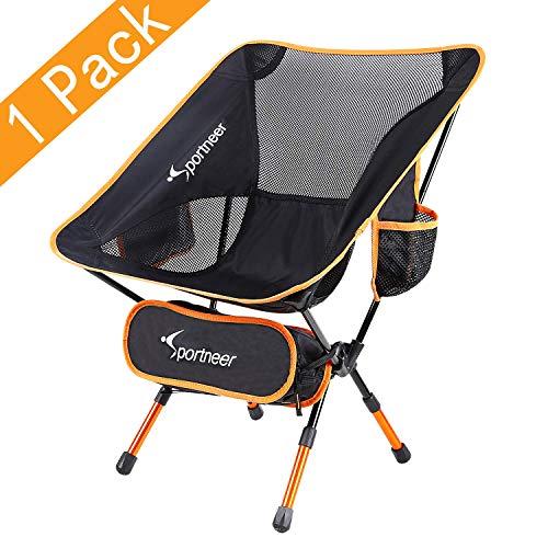 Sportneer Portable Leichtgewichtig Falten Wandern Picknick Camping Stuhl (Camping Stuhl Portable)