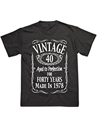 Postees 40th Birthday Vintage Made in 1978 Funny T-Shirt