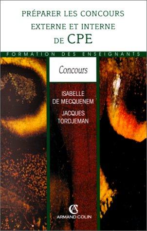 PREPARER LES CONC.EXTERNES    (Ancienne Edition)