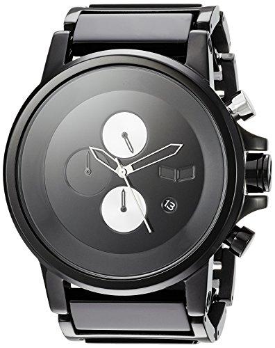 Vestal 'Plexi Acetate' Quartz Stainless Steel Dress Watch, Color:Black (Model: PLA025)