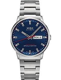 8eb8452c3f08 MIDO Commander II – Reloj de pulsera analógico automático acero inoxidable  m0214311104100. B00PFWPAYO