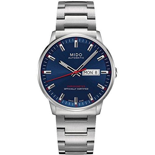 Mido Commander IIM0214311104100– Reloj de pulsera analógico para hombre, automático, con correa de acero inoxidab