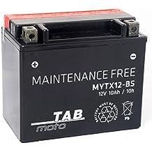 TAB YTX12-BS Batería de moto 12V 10Ah 180A Sellada, sin mantenimiento