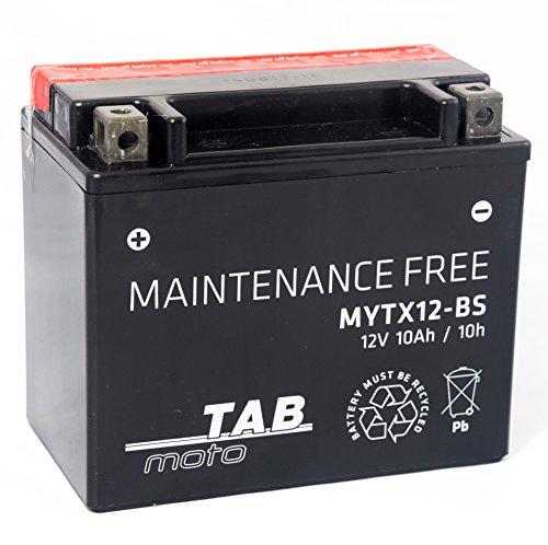 TAB YTX12 BS Batería de moto 12V 10Ah 180A Sellada, sin mantenimiento