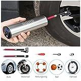 Autoghost Mini Auto-Luftpumpe Elektrischer Luftverdichter für Fahrrad Ball Ballon 150 PSI Portabel Aufladbar mit LCD-Dis