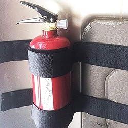 Cozywind - Juego de 5 cintas mágicas para el maletero del coche para fijar el extintor de incendios, accesorios de almacenamiento de velcro para el coche