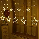 #4: The Purple Tree Decorative Star Curtain LED Lights for Diwali Christmas Wedding - 2.5 Meter (1 Curtain) Diwali Lights, Decorative Lights, Diwali Lights for Window, Festive Lights, led Lights