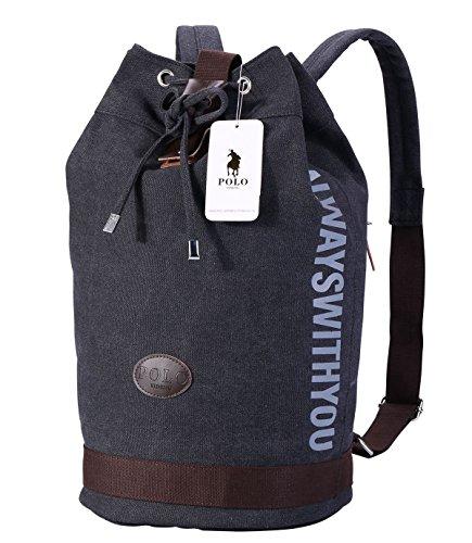 Laptop Rucksack,VIDENG POLO Geschäft Segeltuch Handtaschen Büchertasche für die Universität Reise Rucksack für unter 15 17 Zoll Laptop,2 Größe (bct, Schwarz) (Laptop Tote 17zoll)