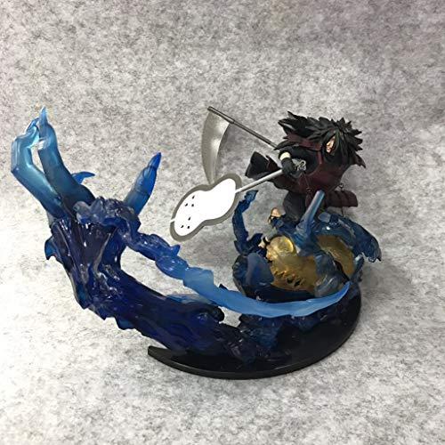 JSFQ Anime Naruto Modell, SG Flame Uchiha Spot, Kinderspielzeug Sammlung Statue, Desktop Dekorative Spielzeug Statue Spielzeug Modell PVC (18 cm) -