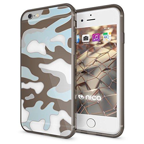iPhone 8 / 7 Camouflage Hülle Handyhülle von NICA, Slim TPU Silikon Case verstärkte Rückseite & Bumper, Dünne Schutzhülle Etui Handy-Tasche Back-Cover Bumper für Apple iPhone 7 / 8, Farbe:Lila Schwarz