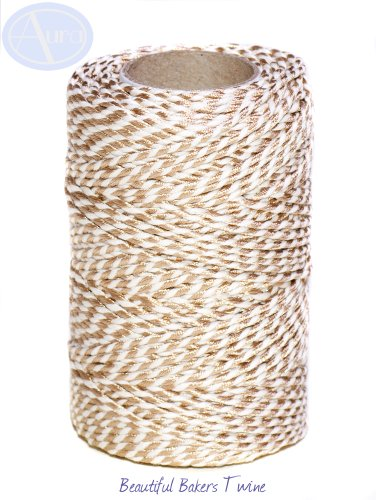 gold-metallic-50m-roll-of-bakers-twine-100-cotton-free-shipping