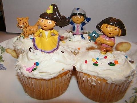 Dora the Explorer Cake Toppers / Cupcake Decorations by Dora the Explorer