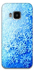 The Racoon Lean printed designer hard back mobile phone case cover for HTC One M9. (Frozen Fev)