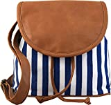 #8: Kleio Women's Blue And Brown Sling Bag ( Blue And Brown ,Bnb312Ly-Bb)