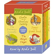 Four Favourite Stories: Charlie and the Chocolate Factory, James and the Giant Peach, The Enormous Crocodile and The Magic Finger