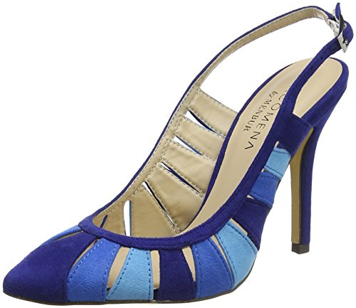 Menbur Benin, Sandales Bride Arriere Femme Blau (Azul Blau)