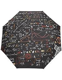 bennigiry lineal de matemáticas matemáticas automático 3plegable sombrilla sol protección Anti-UV paraguas para mujeres