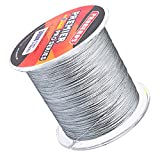 #9: Magideal Super Strong 300M 0.23mm 25LB PE Braided Lines Sea Fishing Line Grey