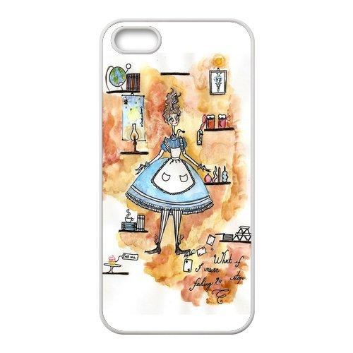 Coque iPhone 5S,Coutume Alice in Wonderland Coque iPhone 5/5S, Slicoo Etui de protection couvert de TPU iPhone 5S coque-Couche Coque Case pour iPhone 5