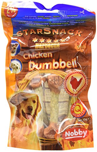 Artikelbild: Nobby StarSnack Barbecue CHICKEN DUMBBELL 70 g, 2er Pack (2 x 70 g)