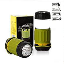 Ultra luminoso LED batteria campeggio Hanging Lanterna Torcia Combo per