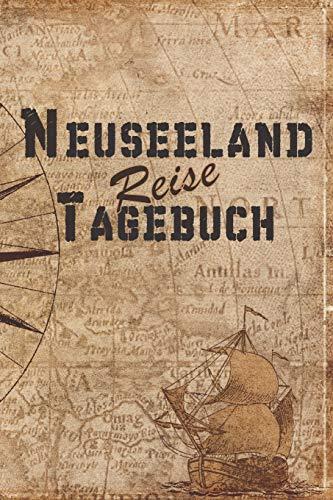 Neuseeland Reise Tagebuch: 6x9 Reise Journal I Notizbuch mit Checklisten zum Ausfüllen I Perfektes Geschenk für den Trip nach Neuseeland für jeden Reisenden