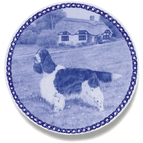 English Springer Spaniel Lekven Design Dog Plate 19.5 cm /7.61 inches Made in Denmark NEW with certificate of origin PLATE #7460