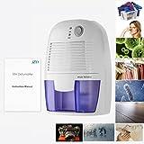JZK® 500ML Deumidificatore d'aria portatile piccolo, contro umidità, sporco e muffe a casa, in cucina, camera da letto, caravan, ufficio e garage ecc