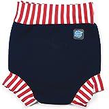 Splash About HNNRSL Maillot de bain Enfant Navy/Red Stripe FR : L (Taille Fabricant : 6-14 mois)