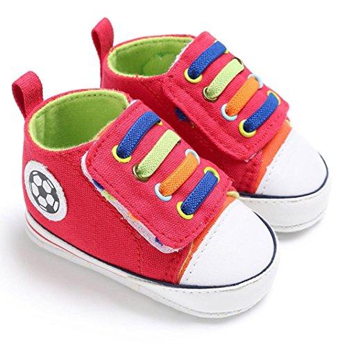 BZLine® Babyschuhe Anti-Rutsch weiche Sohle Kleinkind lauflernschuhe Sneakers Rot